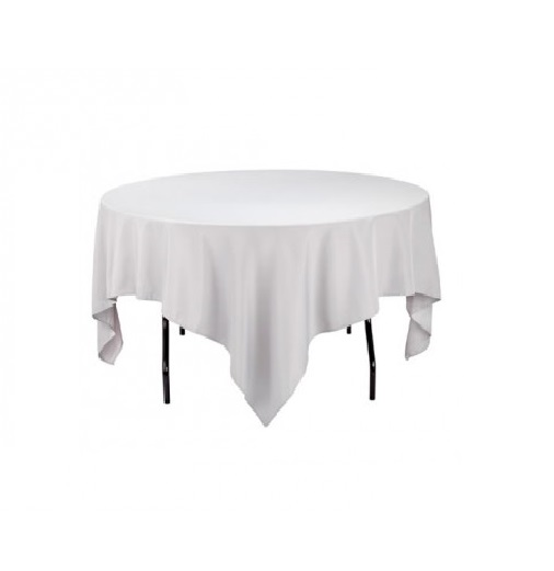 location nappe blanche 100 coton 210x210cm table ronde loc chapiteaux. Black Bedroom Furniture Sets. Home Design Ideas